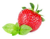 Erdbeerlikör mit Minze
